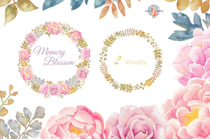 memory-blossom-watercolor-clipart