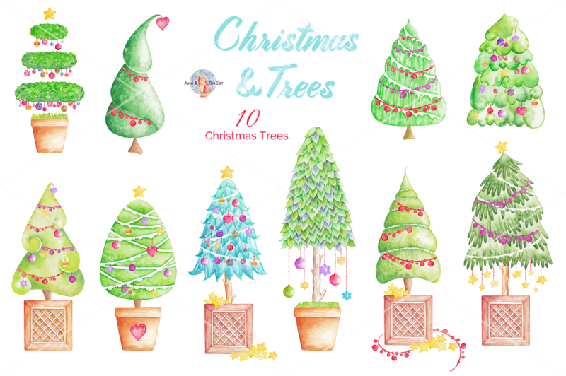 christmas-and-trees-watercolor-clipart