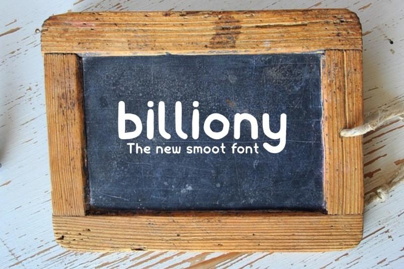 billiony-typeface-font