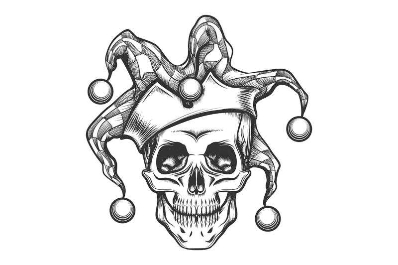 the-skull-in-joker-cap