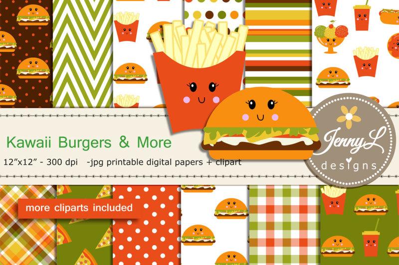 kawaii-burgers-digital-papers-and-clipart