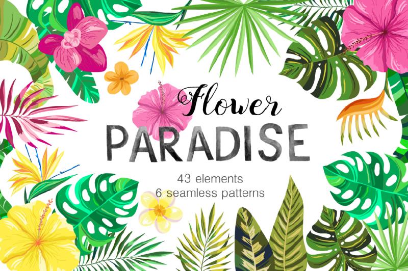 vector-flower-paradise-set
