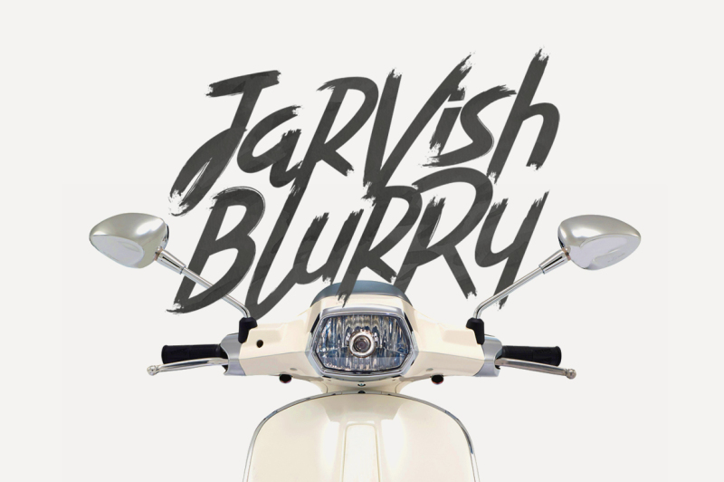 jarvish-blurry-brush-font