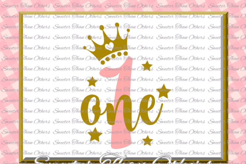 Download First Birthday SVG, one Birthday cut file, girl Dxf ...