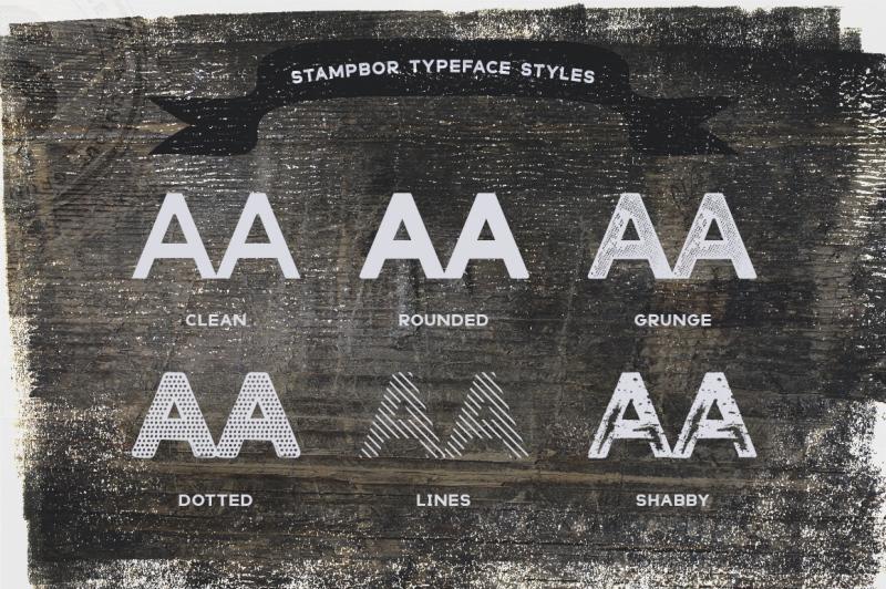 stampbor-typeface