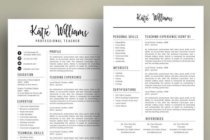 script-3-in-1-teacher-resume