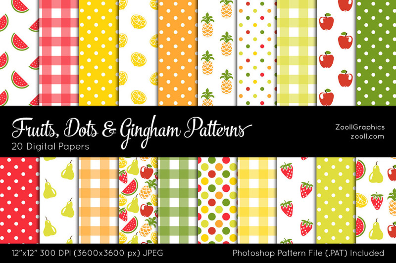 fruits-dots-and-gingham-digital-papers