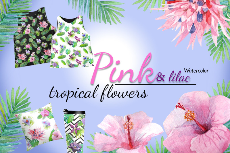 pink-lilac-tropical-flowers