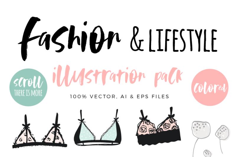 fashion-lifestyle-illustration-pack