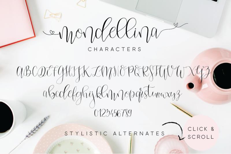 mondellina-script-6-logo-pack