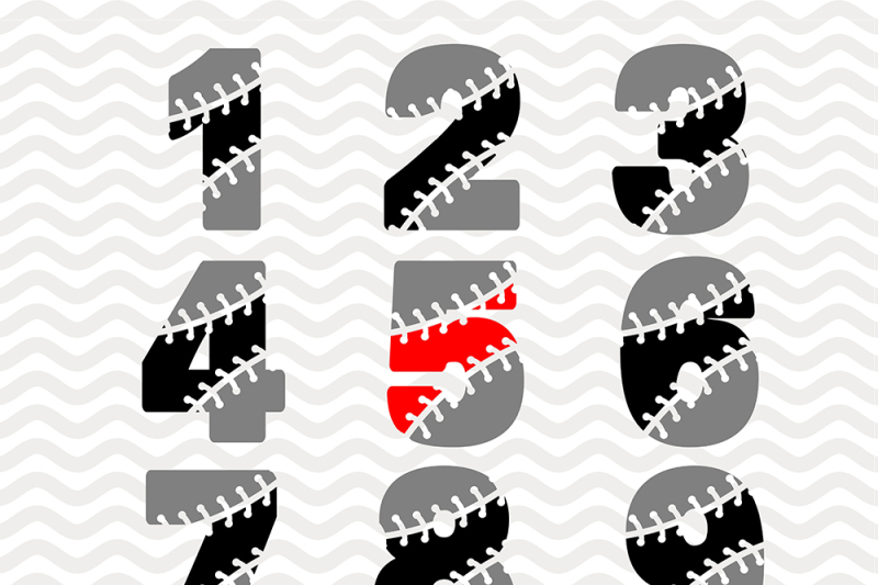 Baseball Numbers Svg Eps Png Jpg Dxf Ai By Dreamer S