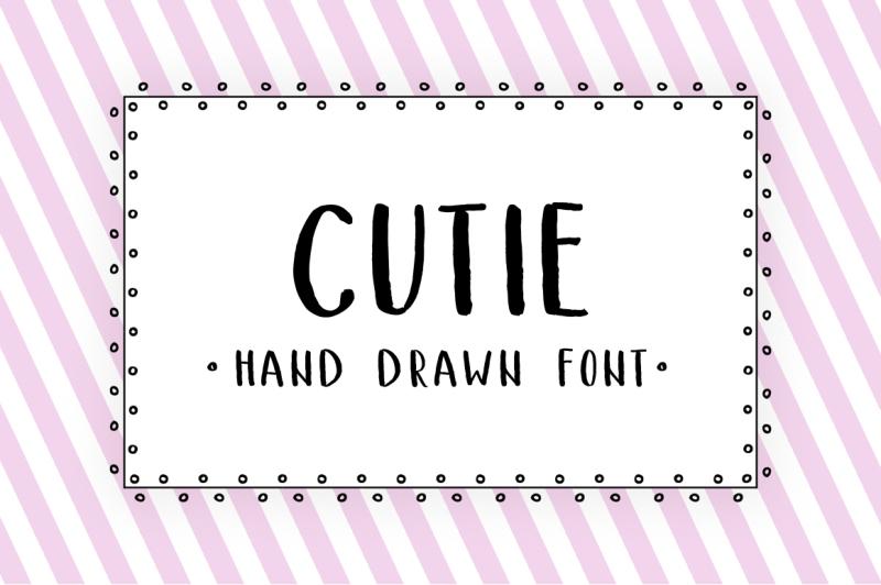 cutie-hand-drawn-font