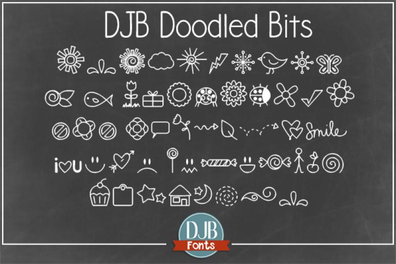 djb-doodle-bits-font
