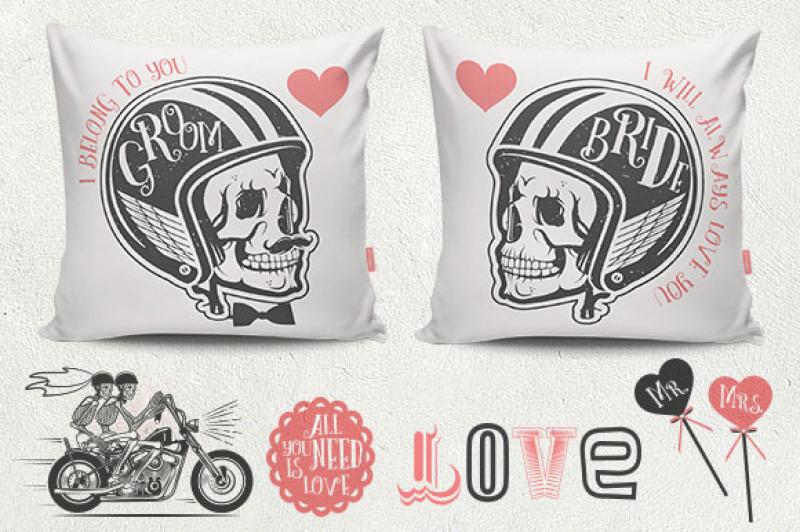 vintage-biker-wedding-logos