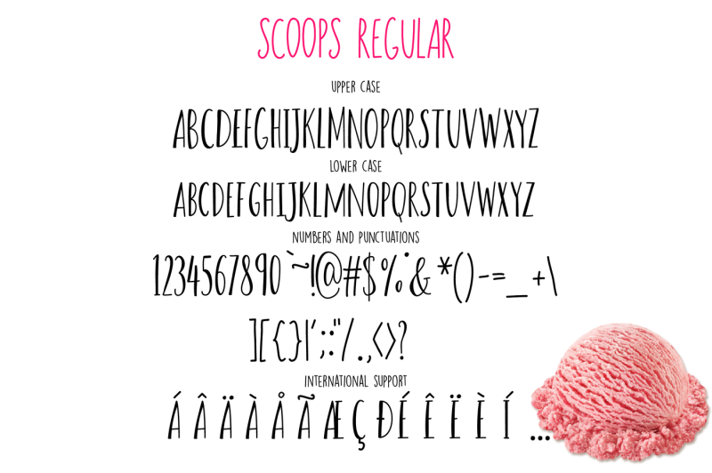 scoops-font