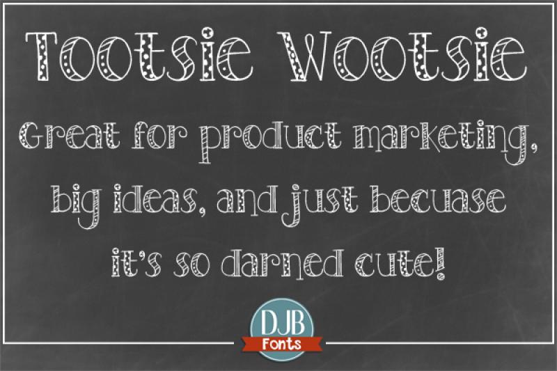 djb-tootsie-wootsie-font