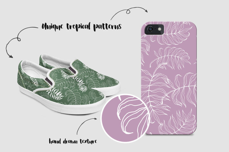 tropical-floral-patterns-collection