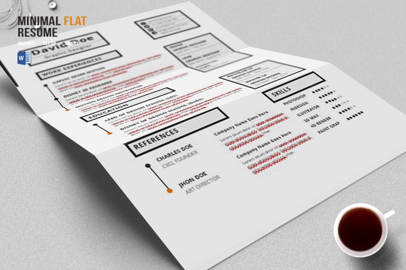 minimal-flat-resume-template