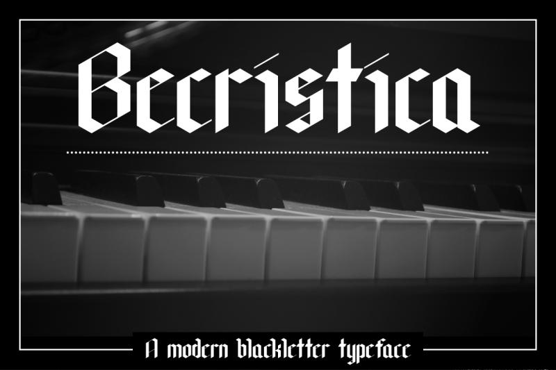 becristica-blackletter-font
