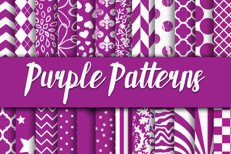 purple-patterns-digital-paper