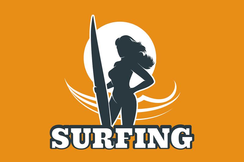 surfing-colorful-emblem