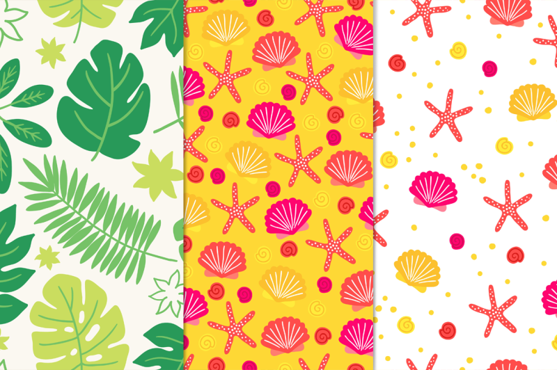 tropical-patterns-design-elements