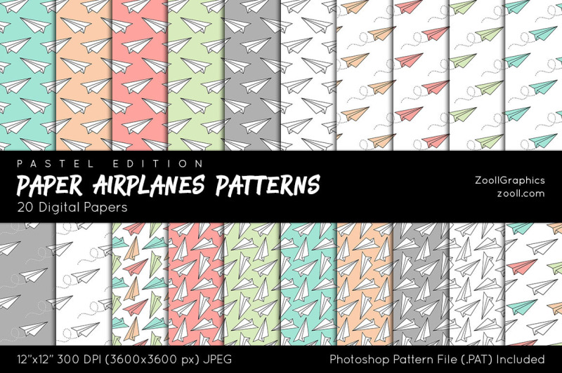 paper-airplanes-patterns-digital-papers