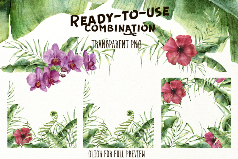 tropic-vibes-watercolor-design-kit