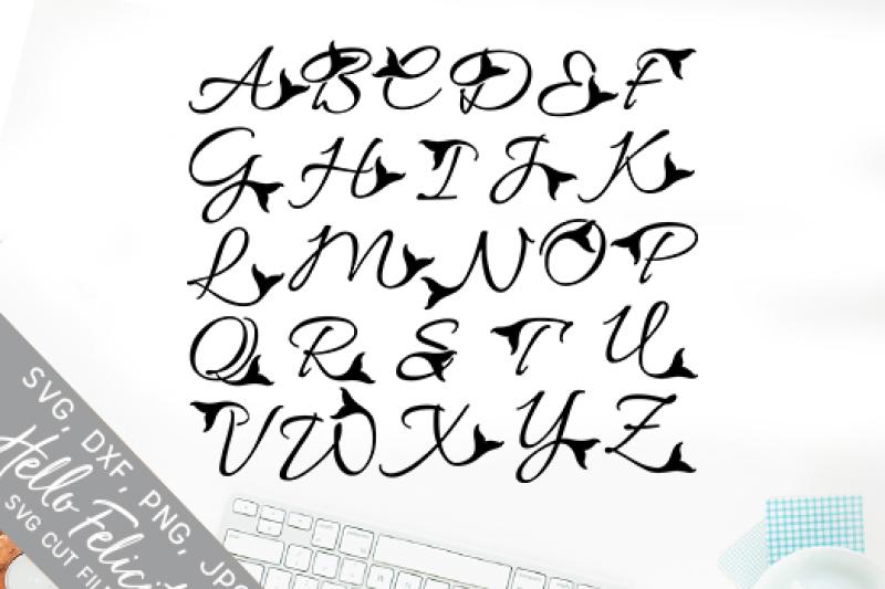 mermaid-tail-complete-monogram-alphabet-svg-cutting-files