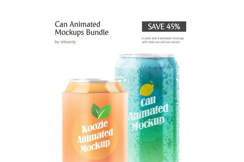 Free Can Animated Mockups Bundle (PSD Mockups)