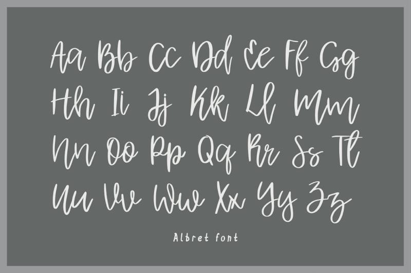 albret-handwritten-script