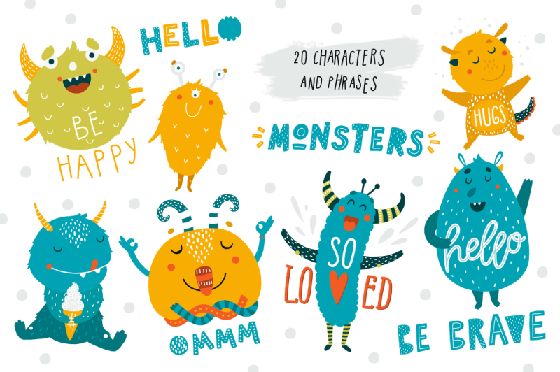 cute-monsters-kids-collection