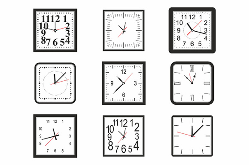 clock-icon-set