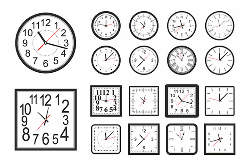 Free Clock icon set (PSD Mockups)