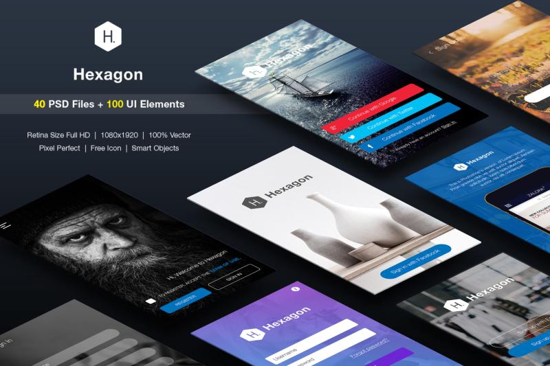 signup-login-mobile-form-ui-kit
