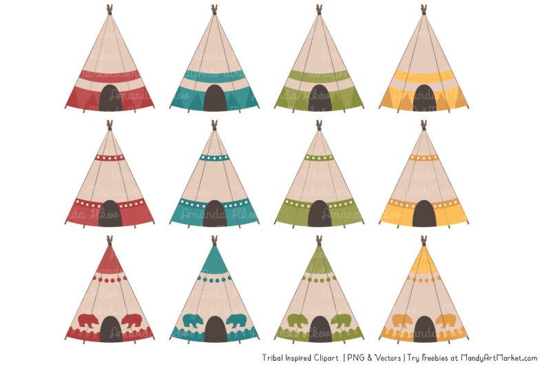 tribal-clipart-collection-in-retro-bold
