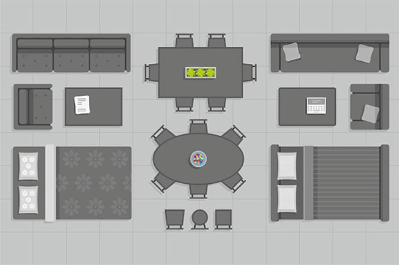furniture-top-view