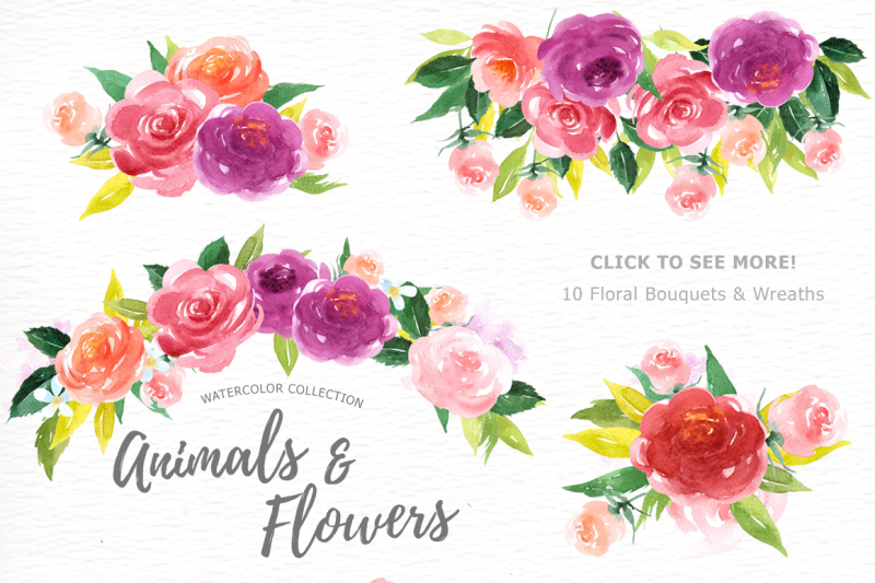 animals-and-flowers-watercolor-clip-art