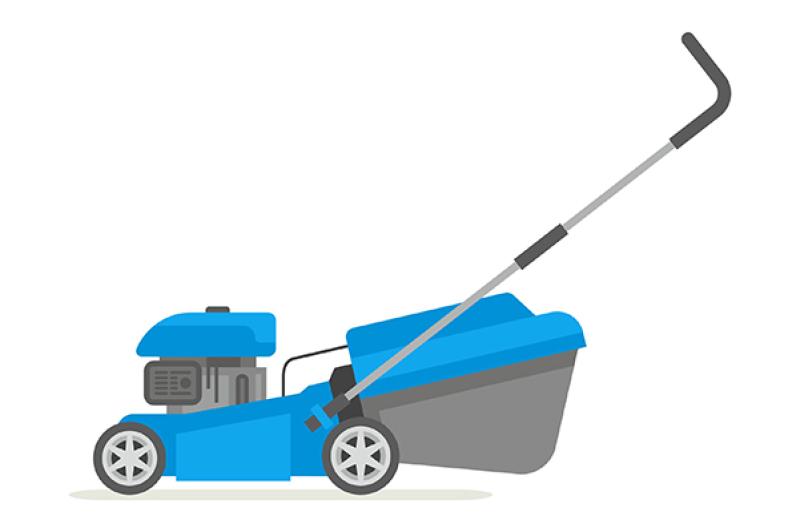 set-of-lawnmower
