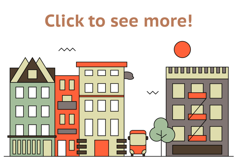 flat-cityscape-set