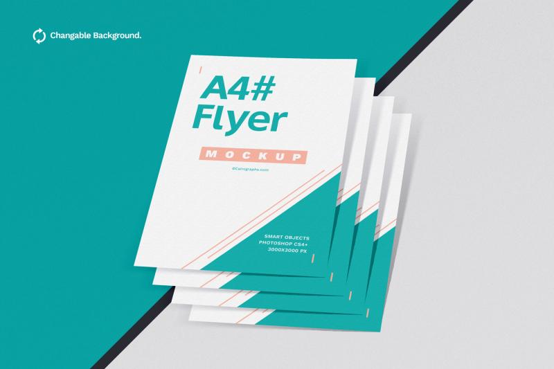 Free Posters & Flyers Mockups Vol.2 (PSD Mockups)