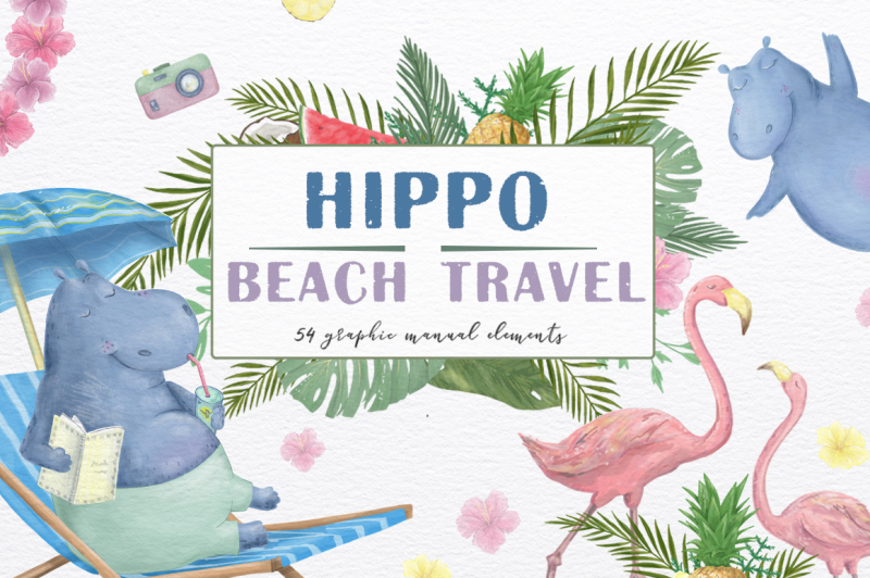 hippo-beach-travel-summer-set