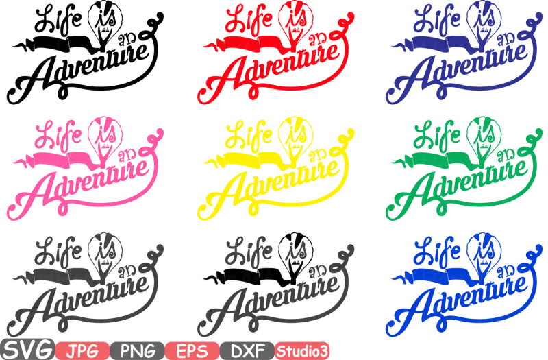 life-is-an-adventure-silhouette-svg-cutting-files-digital-clip-art-svg-graphic-monograme-printable-studio3-silhouette-cricut-cuttable-35sv