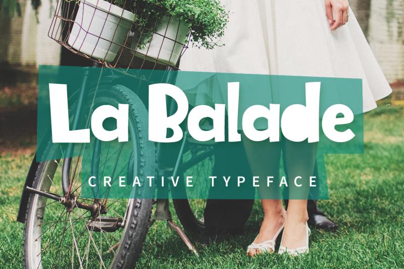 la-balade-creative-typeface