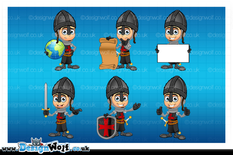 boy-black-knight-character-set-2
