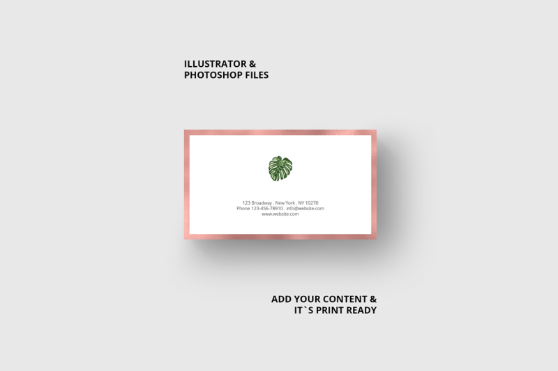 business-card-monstera-and-rosegold