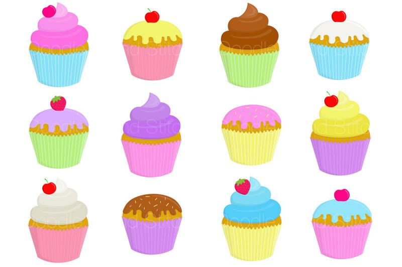 cute-cupcakes-clipart-set