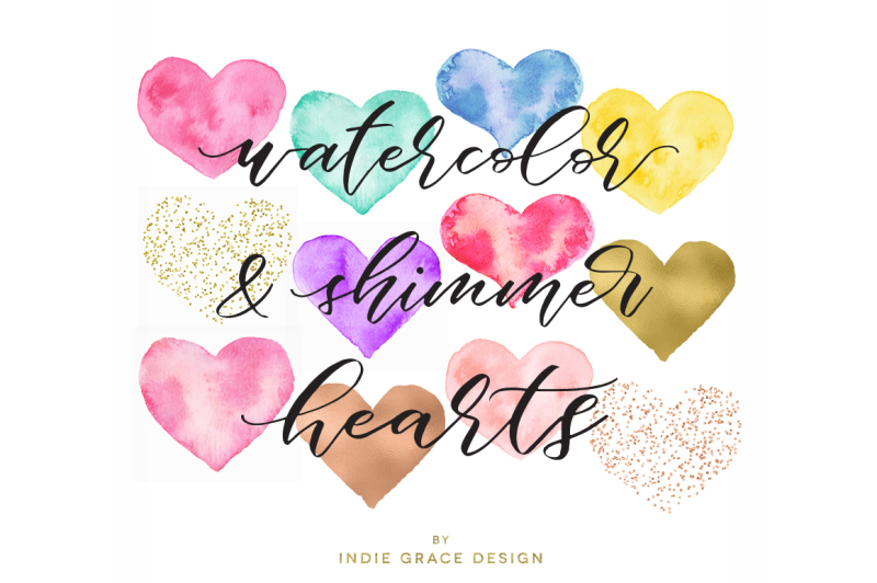 watercolor-gold-foil-rose-gold-and-confetti-heart-shapes-watercolor-heart-forms