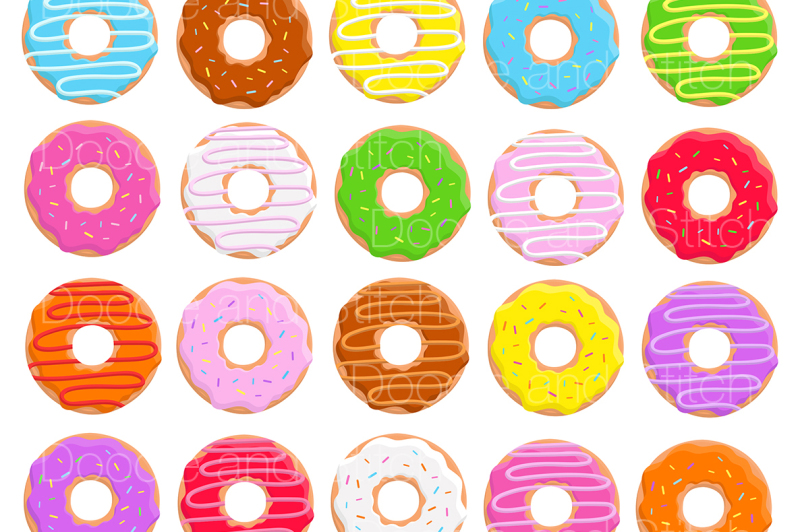 donut-clipart-illustration-set