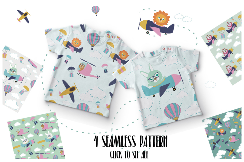 air-baby-illustration-and-pattern